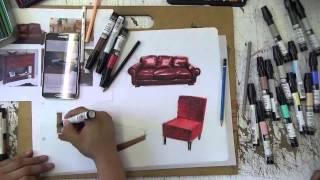 chartpak + lapices de color - muebles