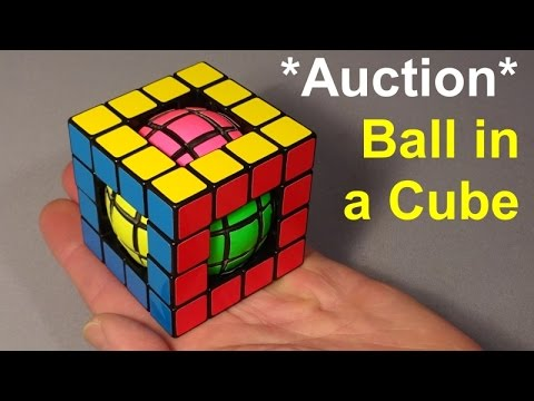 Tony Fisher's Ball In A Cube Puzzle (past Auction)