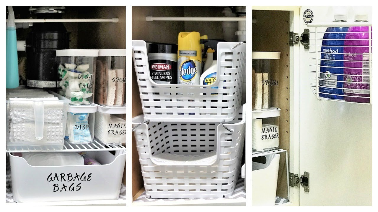 New How To Organize Under The Kitchen Sink Youtube