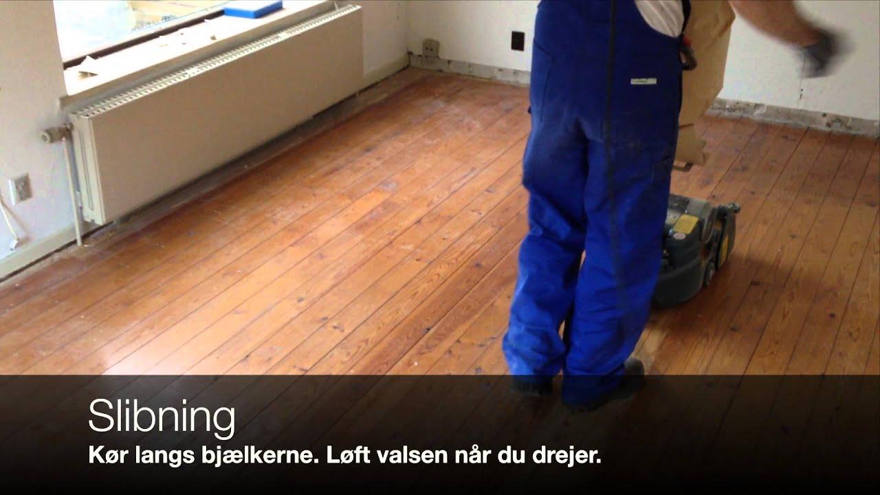 Gør det selv gulvafslibning, overblik over slibning - YouTube