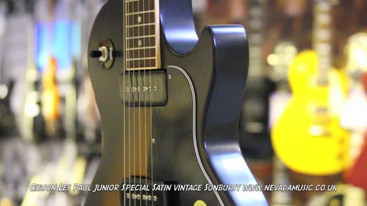Gibson Les Paul Junior Special P90's Satin Vintage Sunburst - Quick Look @  PMT Portsmouth