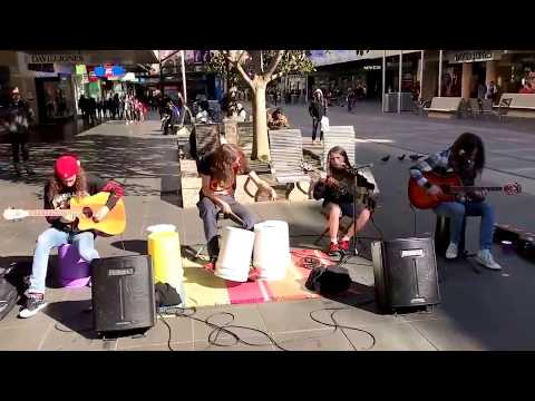 Amazing Kids playing METALLICA street performance