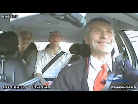 Norway Prime Minister Jens Stoltenberg Poses As Taxi Driver In Campaign Stunt