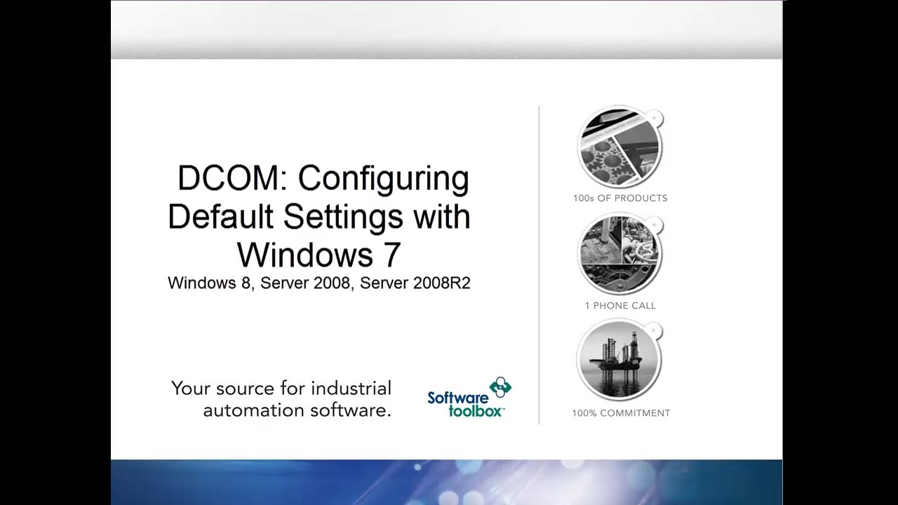 Configuring Default DCOM Settings - Windows 7