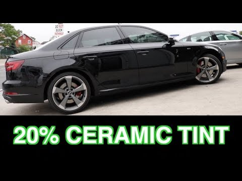 20 Ceramic Tint On A 2018 Audi S4 Winning Window Tints