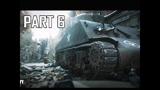 CALL OF DUTY WW2 Walkthrough Part 6 - Sherman & Tiger Tanks (Campaign Story Let's Play Commentary)