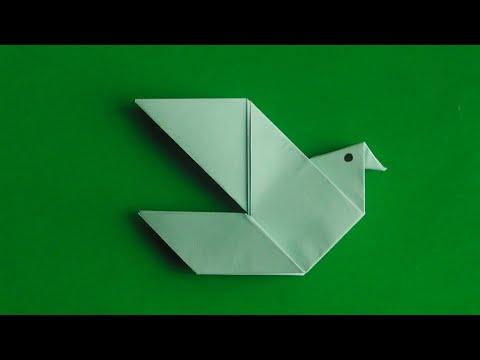 ОРИГАМИ ПТИЦА. Как сделать оригами птицу. Птица из бумаги оригами //  Origami bird