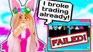I BROKE THE NEW TRADING SYSTEM ALREADY // Roblox Royale High School