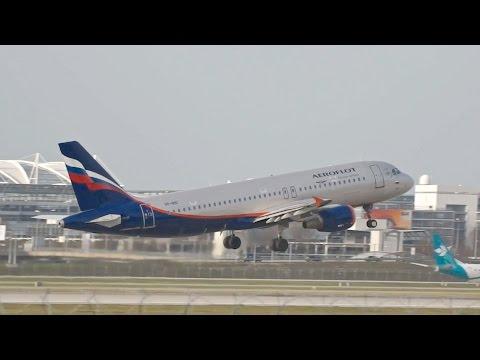 Aeroflot Airbus A320-214 VP-BID Departure At Munich Airport Abflug München Flughafen