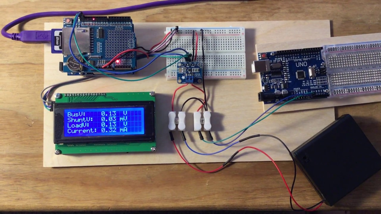Demonstration of Adafruit INA219 for Current Monitoring
