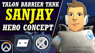 Overwatch - New Hero SANJAY Tank Concept | Talon Barrier Tank Design & Abilities