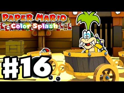 Paper Mario: Color Splash - Gameplay Walkthrough Part 16 - Golden Coliseum 100%! (Nintendo Wii U)