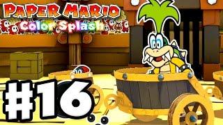 Paper Mario: Color Splash - Gameplay Walkthrough Part 16 - Golden Coliseum 100%! (Nintendo Wii U) thumbnail