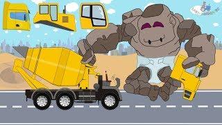 Baby Stone Giant & Construction Machinery   Concrete Mixer and Street Vehicles   Bajki dla dzieci