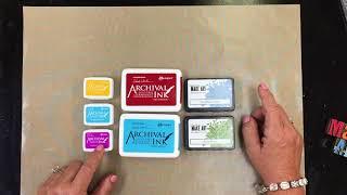 Wendy Vecchi Archival Inks vs MAKE ART Blendable Dye Inks