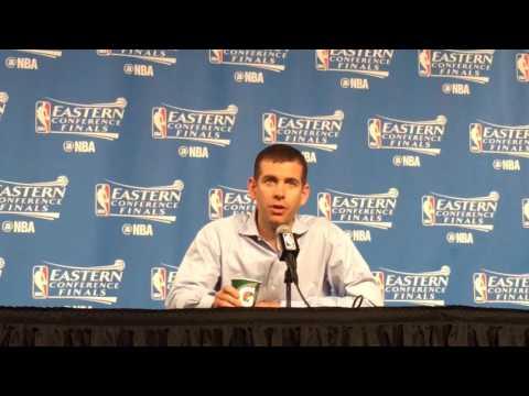 2017 NBA Playoffs, Boston Celtics vs. Cleveland Cavaliers: Brad Stevens tips hat to Kyrie Irving,...