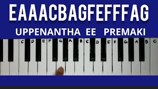 Uppenantha ee Premaki | Keyboard tutorials | Piano Cover with notes | Telugu songs in keyboard