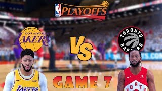 Toronto Raptors vs. Los Angeles Lakers - 2020 NBA Finals! - Game 7 - Full Gameplay - NBA 2K19