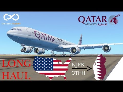 |Long Haul| New York to Doha : Qatar Airways; Airbus a340-600