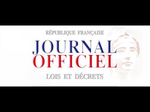 Journal Officiel De La Republique Fransaise