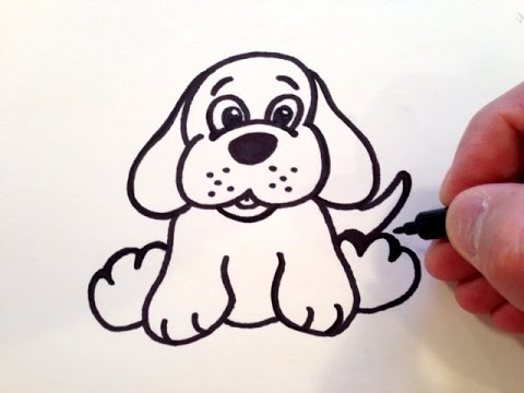 Dog drawing easy cute - photo#19