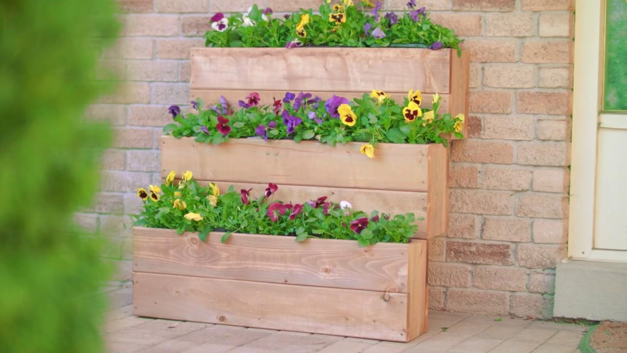 Planter Herbes Aromatiques Jardiniere construction d'une jardiniÈre À trois niveaux