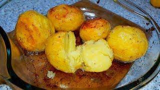 Картофель в духовке с хрустящей корочкой.