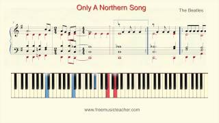 "How To Play Piano: The Beatles ""Only A Northern Song"" Piano Tutorial by Ramin Yousefi"
