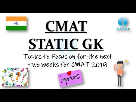 Static GK For CMAT   Most Important Topics To Maximize Score
