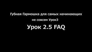 Губная Гармошка для самых начинающих. Урок 2.5 FAQ (Когда 3й урок? Какую гармошку выбрать? и др.)