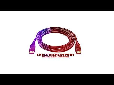 Video de Cable DisplayPort DP macho a DP macho 2 M Negro