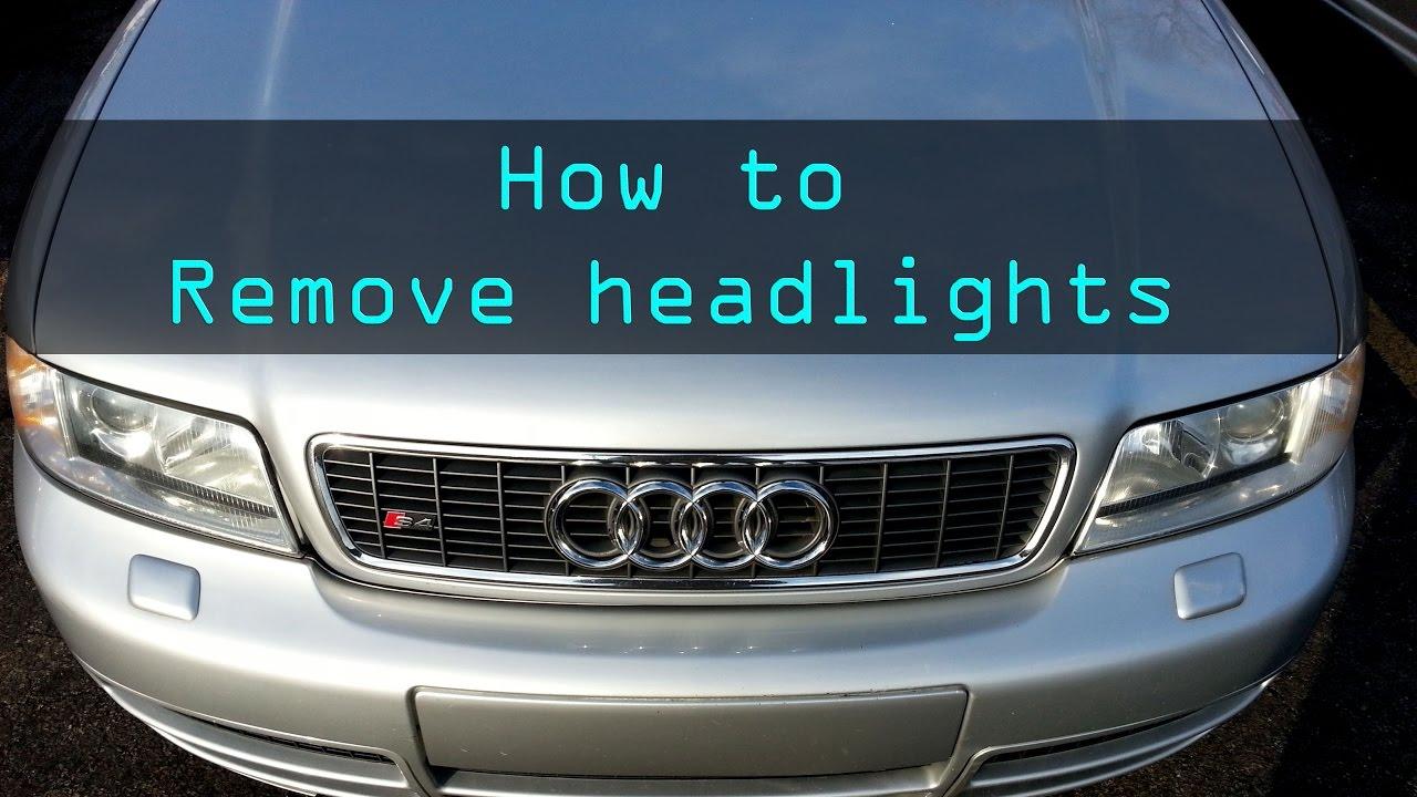 2002 Audi S4 Ep 133 How To Remove Headlights