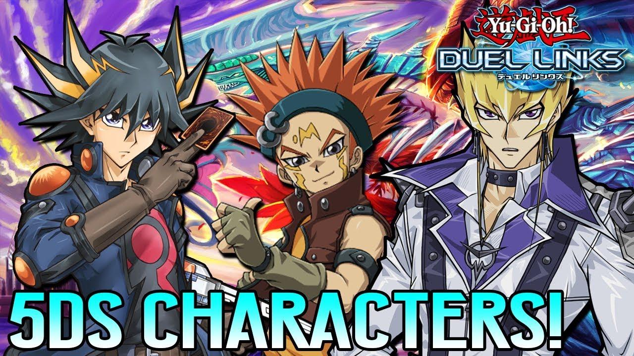[Yu-Gi-Oh! Duel Links] 5D'S CHARACTER LEAKS! YUSEI JACK CROW AKIZA KALIN &  MORE IN DUEL LINKS!