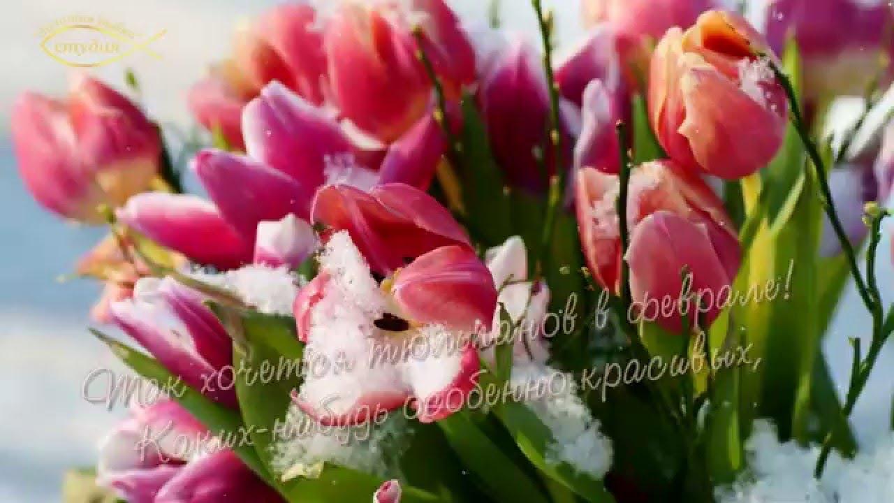 Картинки с днём рождения с тюльпанами