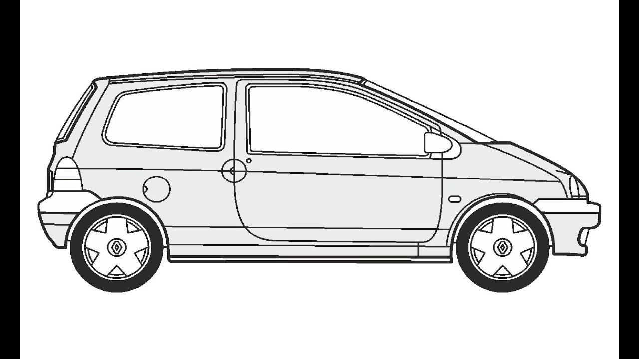 How to Draw a Renault Twingo / Как нарисовать Renault