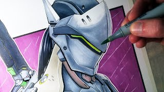 Let's Draw Genji Shimada from Overwatch - FAN ART FRIDAY