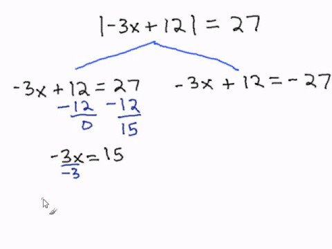 Solving Multi Step Equations With Absolute Values Youtube