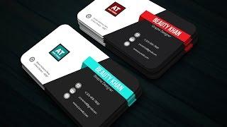 Adobe illustrator Easy Tutorial | How To Make Logo Name Card Design
