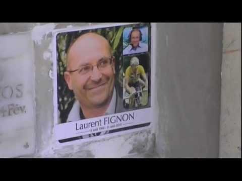 Laurent Fignon au cimetière du Père Lachaise - sa dernière demeure