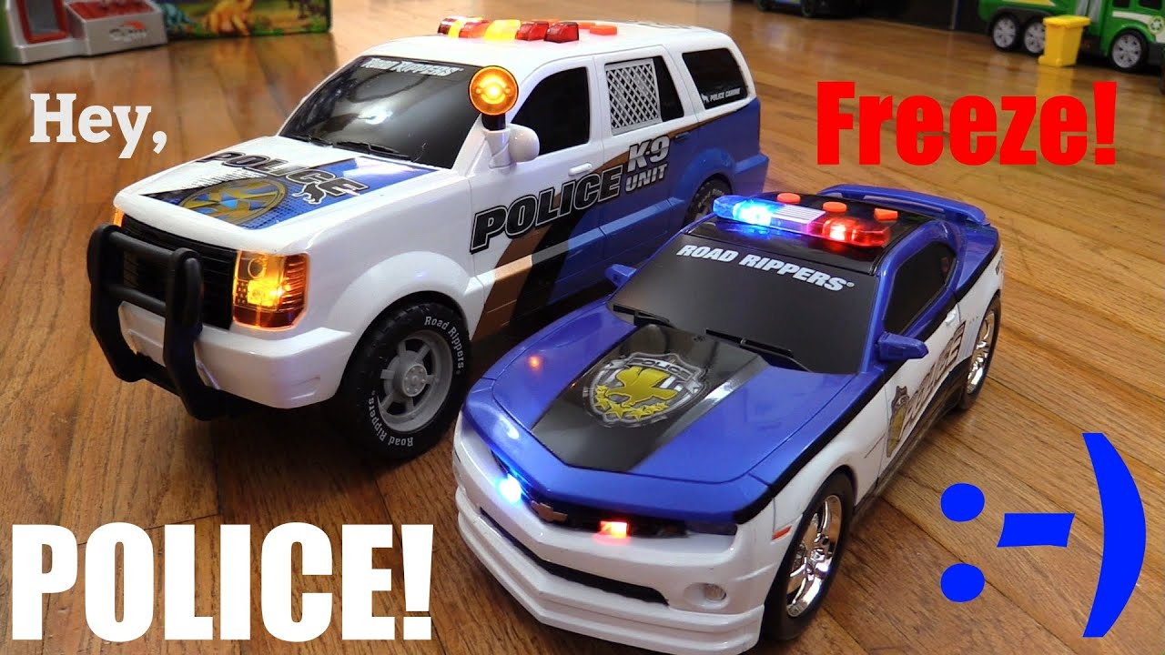 Kids Toy Cars K9 Unit Police SUV and Chevrolet Camaro Police Car