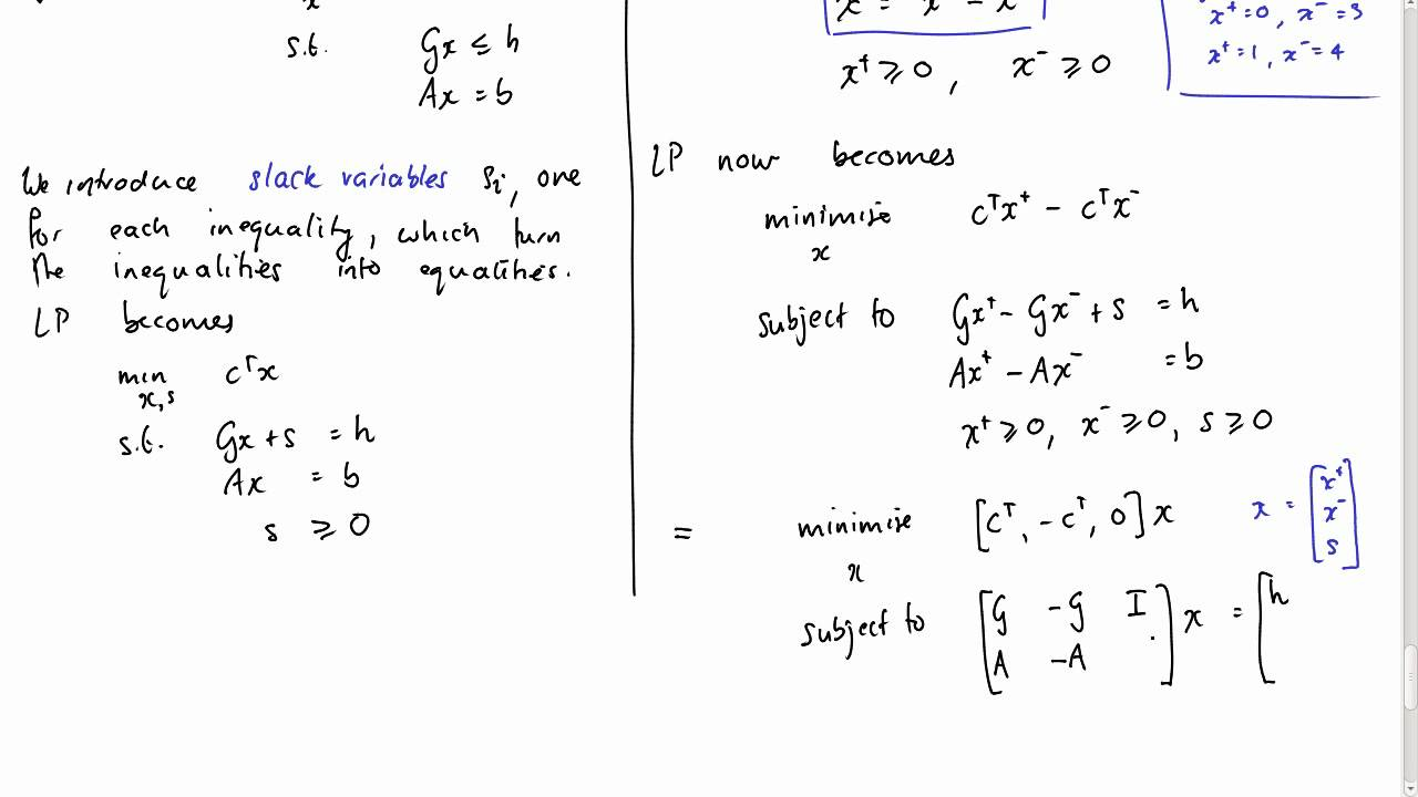 Lecture 9 Introduction To Linear Programming Youtube