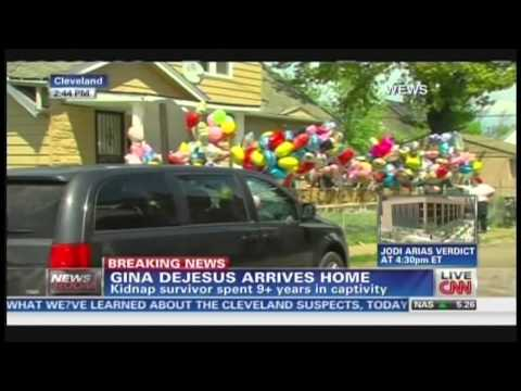 Gina DeJesus returns home after being kidnapped 9 years ago in Cleveland Ohio (May 8, 2013)