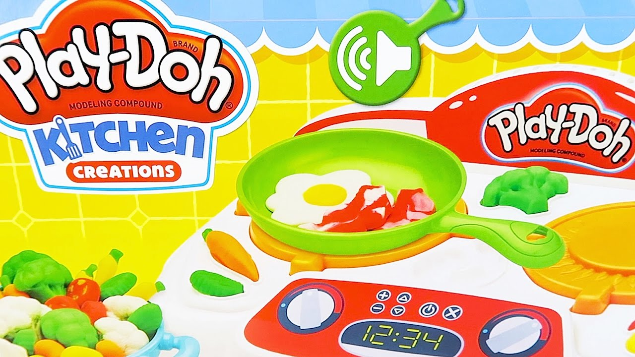 Play doh kitchen creations playset new playdough stove for Kitchen creations