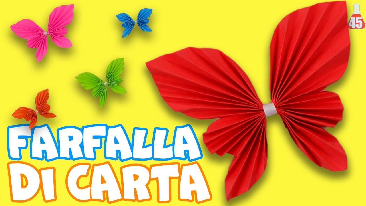 Farfalle Decorative Fai Da Te come fare una farfalla di carta | decorazione farfalla di carta fai da te