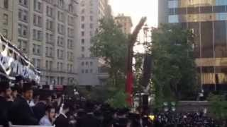 25K Haredim Chant 'Hear, O Israel' a At Anti-Draft Protest