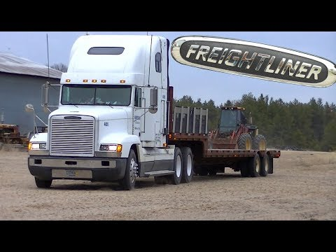 "96 Freightliner & Drop Deck Trailer ""Hauling Home Equipment"""