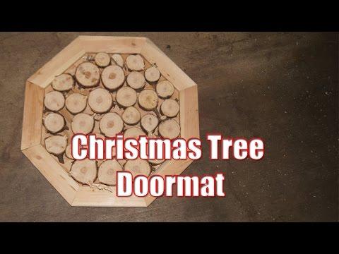 Christmas tree doormat