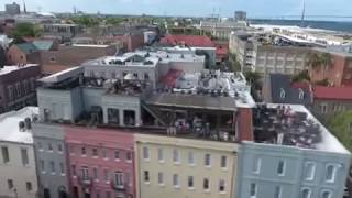 Drone footage of Charleston SC waterfront park, Party Scene! 2017 Video