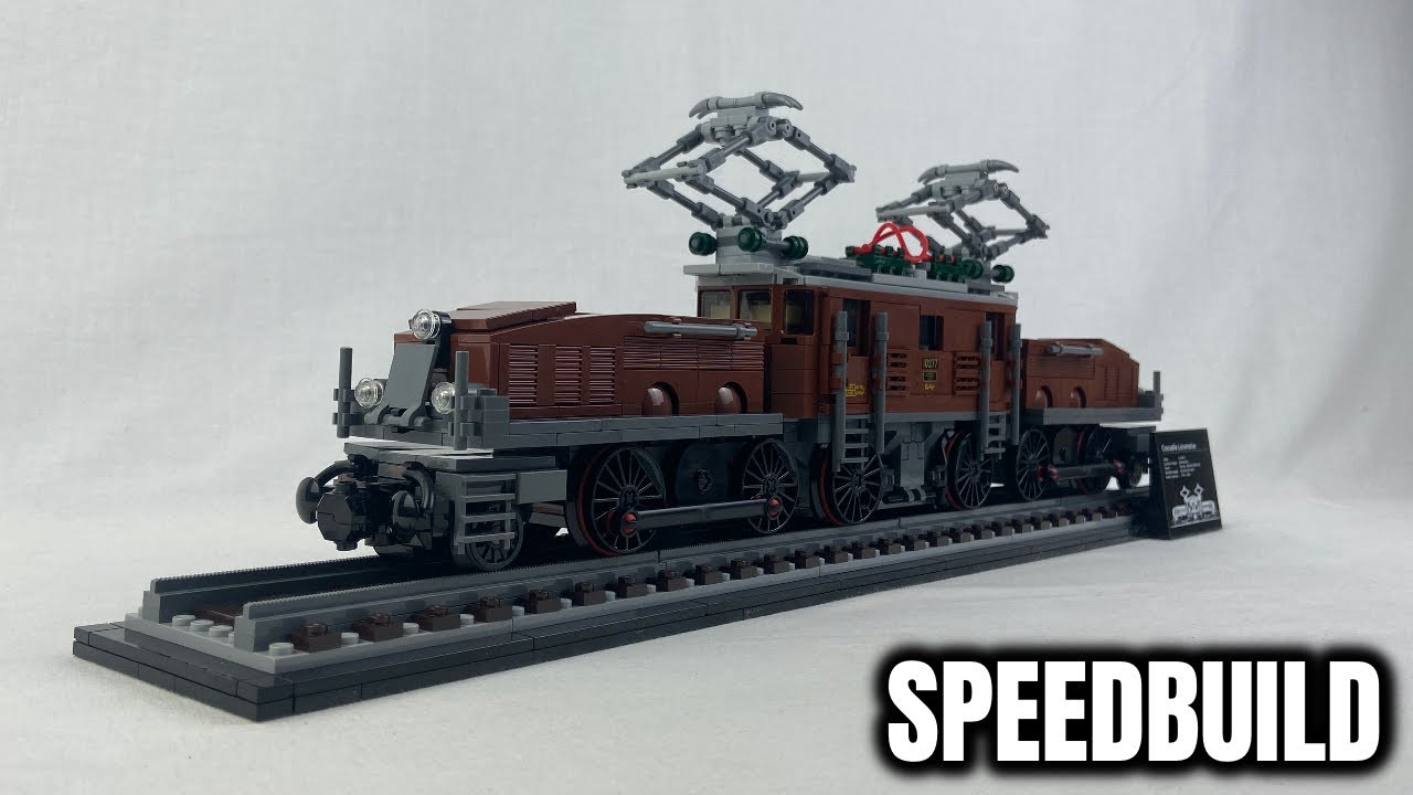 "LEGO ""Crocodile Locomotive"" 2020 Speed Build & Review (10277)! 