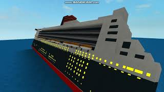 roblox sinking of queen mary